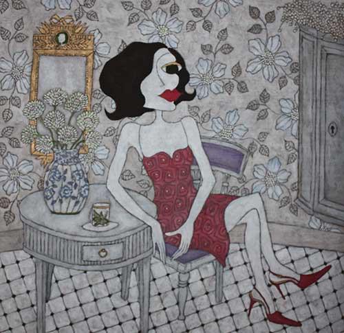 """""""She"""", Upplaga 40, numrerad och signerad Bildstorlek 72 x 74 cm"""