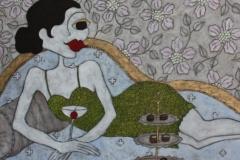 """""""En brud i grönt"""", Upplaga 20, numrerad och signerad Bildstorlek 46 x 55 cm Slutsåld"""