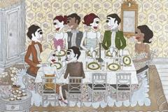 """""""Dinner party"""", Upplaga 40, signerad och numrerad Bildstorlek 61 x 85 cm"""