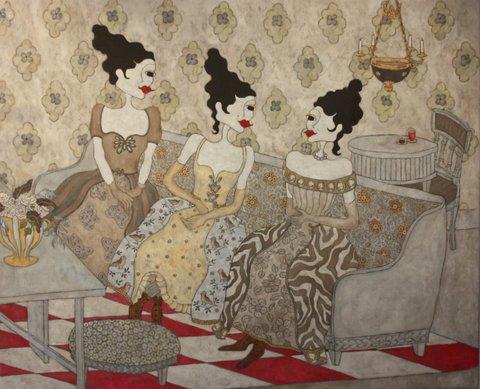 """The sofa"", 110 x 136"